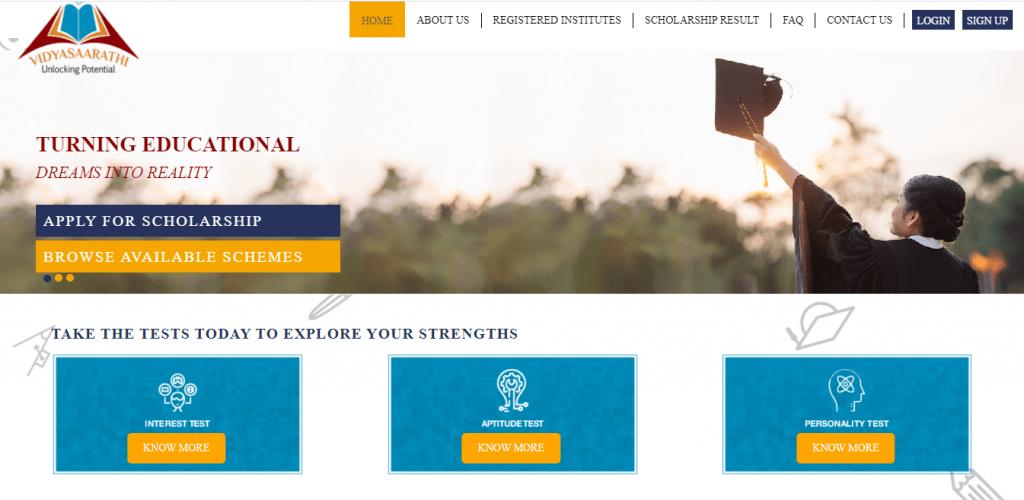 Vidyasaarathi scholarship 2021 portal online apply login,  vidyasaarathi.co.in,  विद्यासारथी स्कॉलरशिप योजना 2021 helpline number